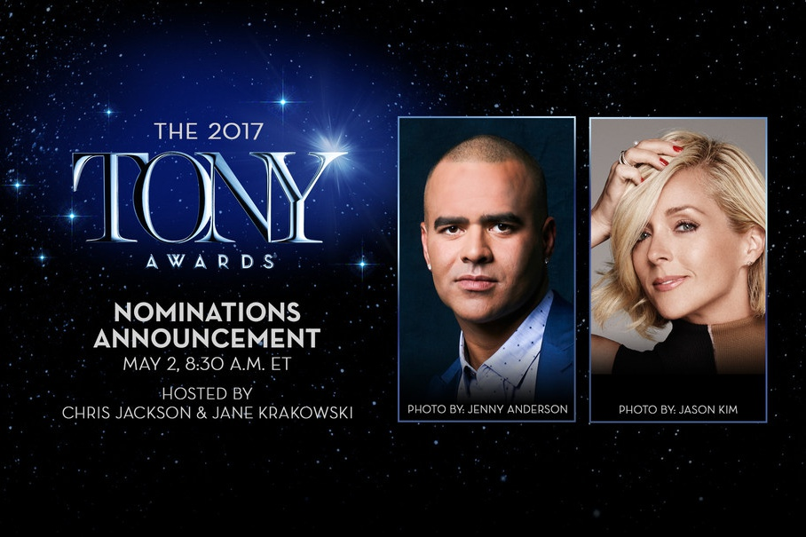 Christopher Jackson and Jane Krakowski will announce the 2017 Tony Awards Nominations at 8:30am ET on Tuesday, May 2, live on TonyAwards.com. The event is sponsored by IBM.