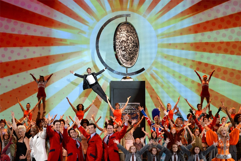 Host Neil Patrick Harris and casts of Broadway shows perform onstage at The 67th Annual Tony Awards